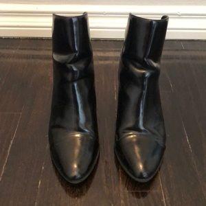 Zara paten leather booties